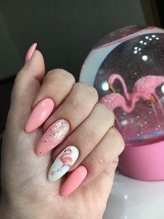 Маникюр фламинго. #маникюр #ногти #фламинго #маникюрфламинго # розовыйманикюр