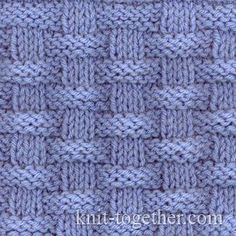 Knitulator sucht #Strickmuster: #Flechtmuster #Korbmuster Basket (Wicker) Stitch Pattern