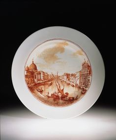 Plate, Venice, Italy 1741 (made). Strawberry Hill, Plates And Bowls, Victoria And Albert Museum, Glass House, Murano Glass, Ceramic Pottery, Dinnerware, Decorative Plates, Porcelain
