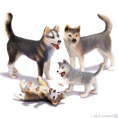 Husky plastic play toys, i want these i have the wolf ones.