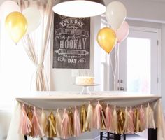 PINK AND GOLD BIRTHDAY BANNER FOR AUDREY'S PINK AND GOLD 1ST BIRTHDAY!:)
