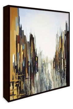 Abstract cityscape - great idea for using travel photos as inspiration for an art piece!