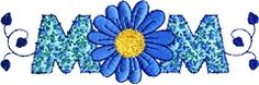 "Mom/Daisy ""O"" (Applique) (AP0428) Embroidery Design by Creative Design"