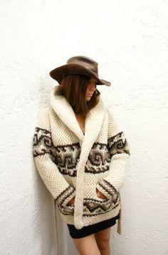 Chunky Knit Wool Mexican Sweater, Diamond Pattern, mexchic