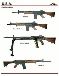 Stoner 62 Prototype Rifles
