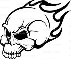 cool easy skull drawings cool skull to draw - cool skull drawings Cool Skull Drawings, Easy Drawings, Skull Wall Art, Skull Artwork, Skull Coloring Pages, Free Coloring Pages, Calavera Simple, Simple Skull, Skull Stencil