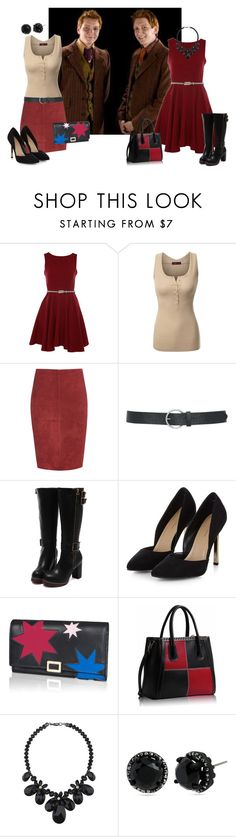 """double date #2"" by myamane ❤ liked on Polyvore featuring George, Closet, Doublju, Jitrois, M&Co, Roger Vivier, Wallis and Betsey Johnson"