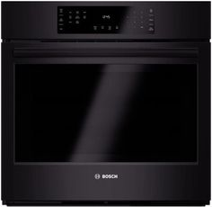 Bosch HBL8461UC 30 Inch Single Electric Wall Oven with 4.6 cu. ft. European Convection Oven, 12 Cooking Modes, Fast Preheat, Meat Probe, Telescopic Rack, Flush Installation with Cabinetry, EcoClean Self-Clean, Star-k Certified and ADA Compliant: Black
