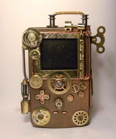 Steampunk Tendencies | Steampunk Gameboy ~ Wendy Dearum https://www.facebook.com/photo.php?fbid=10203066863501160&set=gm.634453766609063 New Group : Come to share, promote your art, your event, meet new people, crafters, artists, performers... https://www.facebook.com/groups/steampunktendencies