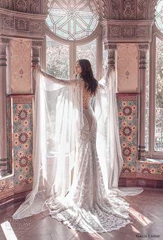 galia lahav spring 2018 bridal cap sleeve deep sweetheart neckline full embellishment elegant glamorous fit and flare wedding dress keyhole back sweep train (rayne) bv -- Galia Lahav Spring 2018 Wedding Dresses