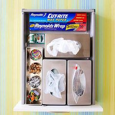 Use metal tissue holders to dispense bags! BHG