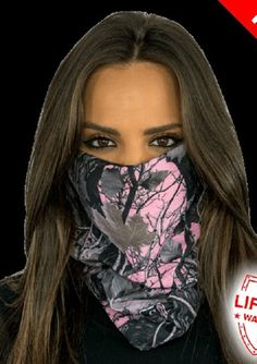 Pink Forest Camo Multi Purpose Face Shield Balaclava Bandana Neck Gaiter Buff Sun Mask Neckerchief by VaderUnlimited on Etsy