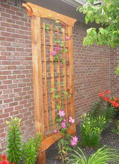 Pergola With Retractable Roof Clematis Trellis, Arbors Trellis, Rose Trellis, Trellis Ideas, Garden Arbor, Garden Yard Ideas, Garden Trellis, Small Pergola, Backyard Pergola