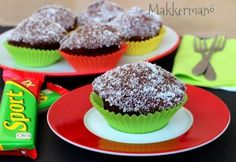 Sport muffin Muffins, Breakfast, Food, Morning Coffee, Muffin, Eten, Meals, Morning Breakfast, Cupcakes