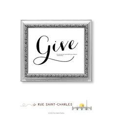 Give Thanks Give Love... Everyday  par partout design sur Etsy