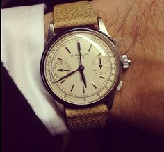 <3 Pin it and win a trip to New York, Barcelona, Berlin, Rome or London. - Vintage Patek Philippe Chronograph | juwelier-haeger.de