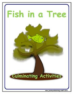 Fish in a Tree by Lynda Mullaly Hunt is an amazing novel about a middle school… Reading Comprehension Strategies, Reading Resources, Reading Activities, Teaching Reading, Fun Learning, Teacher Resources, Classroom Resources, Teaching Ideas, Fish In A Tree