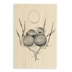 TAILS ENTWINED - Our Newest House-Mouse Designs® Wood Mounted rubber stamps