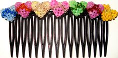 Beaded 3D Tiny Hearts Hair Comb PATTERN by Allegra