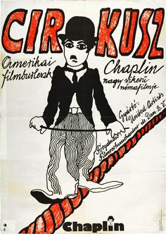 A cirkusz (1928) The Circus Hungarian vintage movie poster. Artist by Székely…
