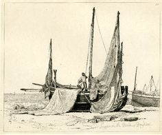 Lugger on the Beach at Brighton, Edward William Cooke, 1830