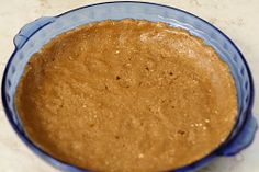 Oatmeal Pie Crust (this is the BEST pie crust ever-- from the fat free vegan blog. I used all oats/oat flour and added pan toasted millet (for crunch) and replaced the sugar with a few drops of stevia. Would be good with a quiche also (just leave out sweetener).
