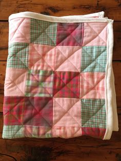 A personal favorite from my Etsy shop https://www.etsy.com/listing/520089203/handmade-baby-quilt-pink-flannel-crib