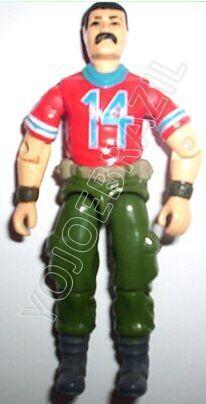 Descrição:   O Artilharia Míssil (Homem Bala) foi lançado no Brasil em 1989 (Série 6) pela companhia de Brinquedos Estrela, a figura corresponde ao modelo swivel arm (com movimento nos cotovelos). Trata-se da versão nacional do Missile Specialist [Bazooka] fabricado em 1985 pela Hasbro pela série G.I. JOE.