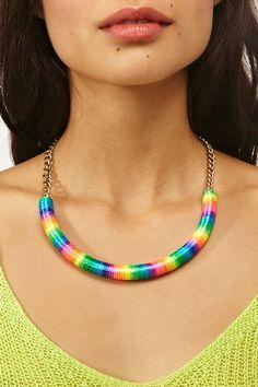 Rainbow Collar Necklace