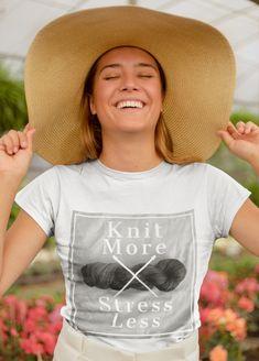 So true. Knit more! Yarn Store, Knitting Wool, Sock Yarn, Hand Dyed Yarn, Crochet, Cotton, Shirts, Shopping, Women