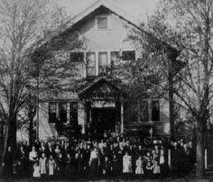Germans in Wisconsin: Free Thinkers (Freie Gemeinde) Congregation, Sauk City, 1902. (WHi X3 22821)