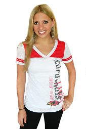 Lady Cardinals Football Jersey V-Neck T-Shirt