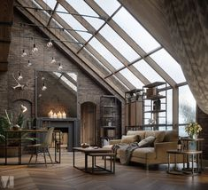 Industrial and vintage lofts to the east - PLANETE DECO a homes world - Trend Home Design 2019 Home Design, Design Loft, Design Case, Studio Design, Design Ideas, Design Guidelines, Design Inspiration, Lofts, Interior Design Living Room