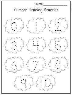 Preschool Number Worksheets, Numbers Kindergarten, Preschool Writing, Free Preschool, Preschool Kindergarten, Preschool Learning Activities, Toddler Worksheets, Spanish Activities, Tracing Practice Preschool