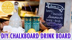 DIY Distressed Frame Drink Board - HGTV Handmade Video Tutorial https://youtu.be/POP1pcHpVZU #chalkboard #DIYsigns #howto #DIYcraftsandart #DIYwedding #chalkpaint #partyideas
