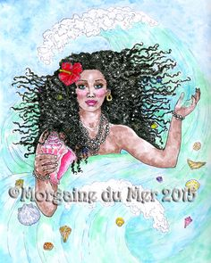 Yemaya Ocean Sea Goddess Mother of All Living Things Yoruba Santeria Fantasy Art Print by MagickMermaid on Etsy https://www.etsy.com/listing/244684524/yemaya-ocean-sea-goddess-mother-of-all