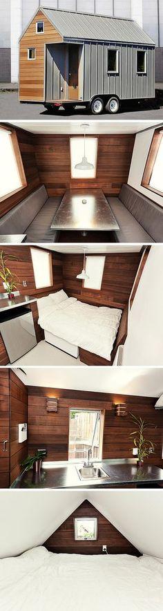 The Miter tiny house, a 150 sq ft tiny house