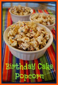 This birthday cake popcorn is easy to make and will make your kid feel like every day is their birthday! #popcorn