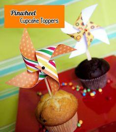 Video TUTORIAL: How to Make a Paper Pinwheel Cupcake Topper