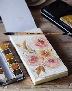 Aina Kristina paints the most beautiful florals! This is just one sample of a spur-of-the-moment painting using our Watercolor Confections in Decadent Pies! #prima #watercolor #designteam