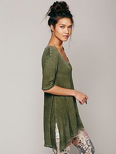 Melrose Swing Tee $68 #freepeople (i like this color a lot, make the neck smaller and sleeves long)