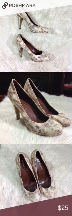 🎁FRANCO SARTO • leather animal print heels Franco Sarto Animal Print Heels. Leather Upper. Brown and cream. Brown soles. EUC, excellent used condition. Size: 7.5M Franco Sarto Shoes Heels