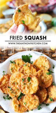Make this easy Southern Fried Squash for an easy vegetable side dish everyone will love! Crispy on the outside and tender on the inside! Fried Yellow Squash, Easy Vegetable Side Dishes, Zucchini Fries, Side Dish Recipes, Bbq, Southern, Vegetarian, Stuffed Peppers, Barbecue