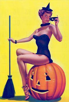 Halloween Pumpkin face paint Vintage halloween pin up Vintage Halloween Postcard . Halloween Pin Up, Retro Halloween, Photo Halloween, Halloween Forum, Theme Halloween, Halloween Pictures, Cool Halloween Costumes, Vintage Halloween Photos, Halloween Humor