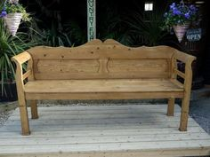 400GBP 102x194x51 !!!!! pine LOVELY-OLD-ANTIQUE-VICTORIAN-EARLY-20thC-PINE-HUNGARIAN-MONKS-BENCH-SETTLE-PEW