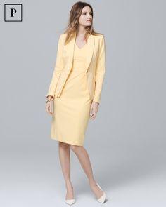 Women's Petite Body Perfecting Seamed Sheath Dress by White House Black Market Office Dresses For Women, Suits For Women, Dresses For Work, Ladies Suits, Blazer Dress, Jacket Dress, Blazer Jacket, Professional Dress For Women, Petite Body