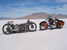 Worlds Fastest Indian along with an original Indian Motorcycle