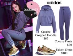Lit Outfits, Kpop Fashion Outfits, Blackpink Fashion, Retro Outfits, Korean Outfit Street Styles, Korean Outfits, Looks Teen, Mode Kpop, Cute Workout Outfits