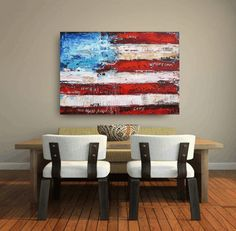 painting collage and painting 40 large  ready to by jolinaanthony, $399.00