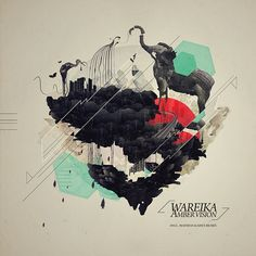 sweet mother of god, this is just insanely gorgeous! WAREIKA - AMBER VISION /COVER ART by Petra Péterffy, via Behance